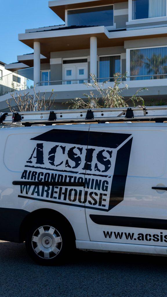 The acsis airconditioning van ready at a home.
