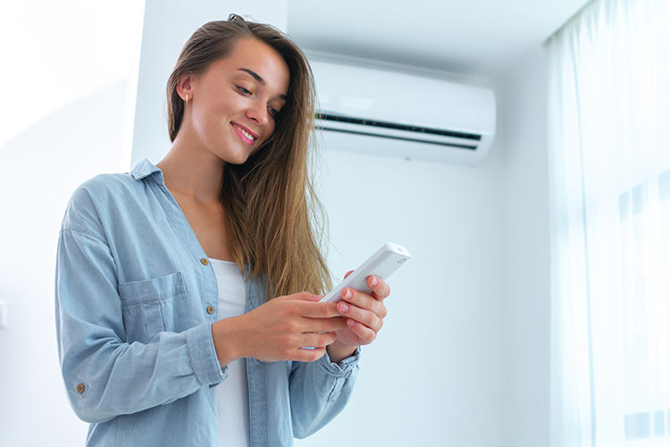 using remote air conditioning