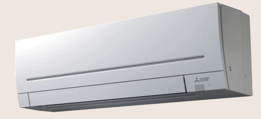 A new Mitsubishi wall aircon unit designed for home use.