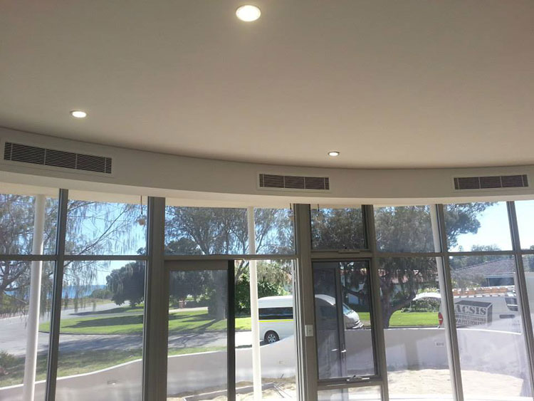curved grilles evaporative air con