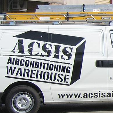The acsis airconditioning warehouse van.
