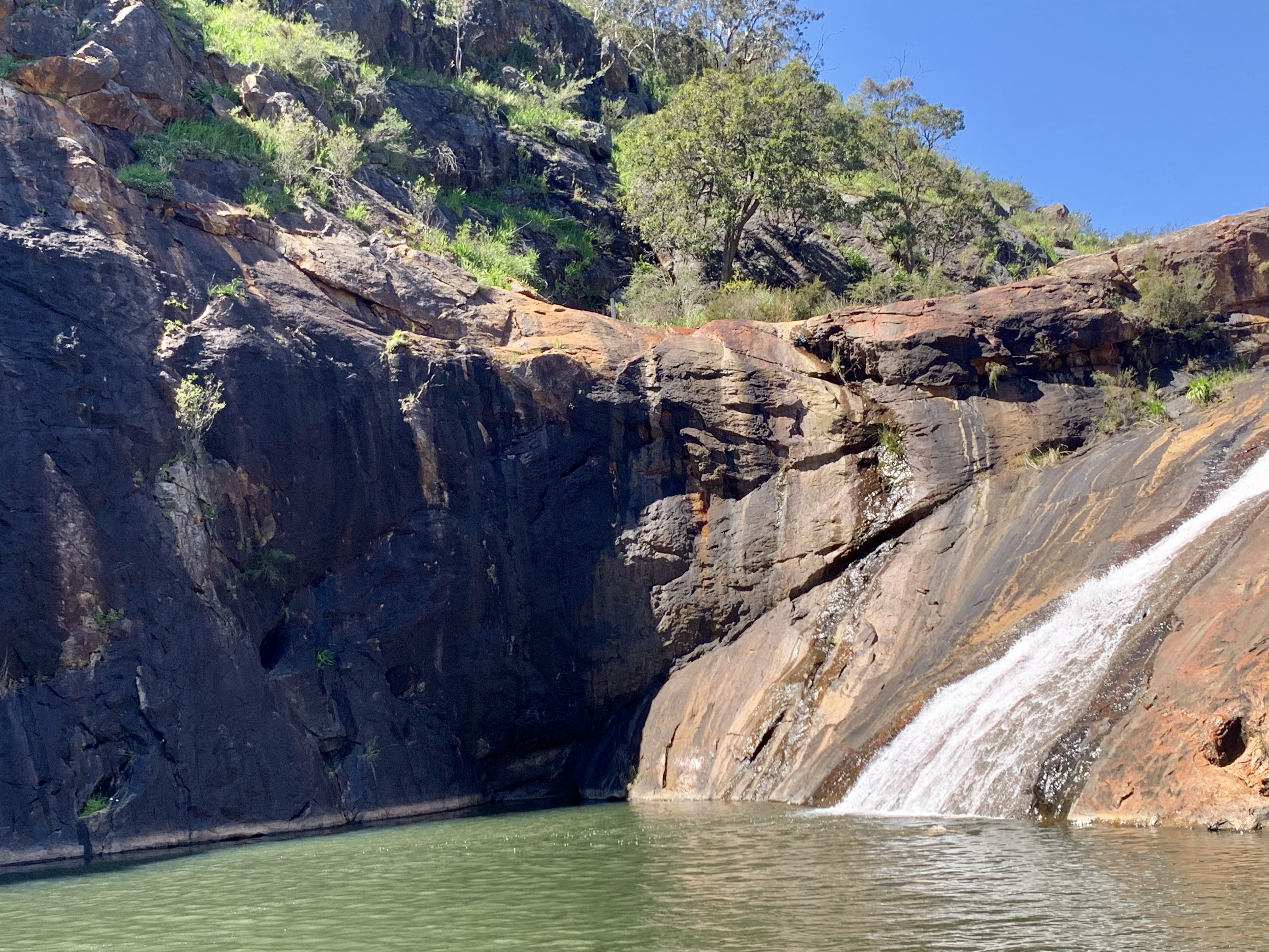 Serpentine falls national park at the waterfall.