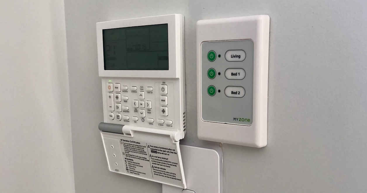 Airconditioning control panel used for a ducted system.
