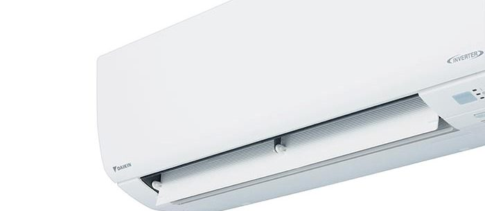 A wall mounted Daikin air conditioner.