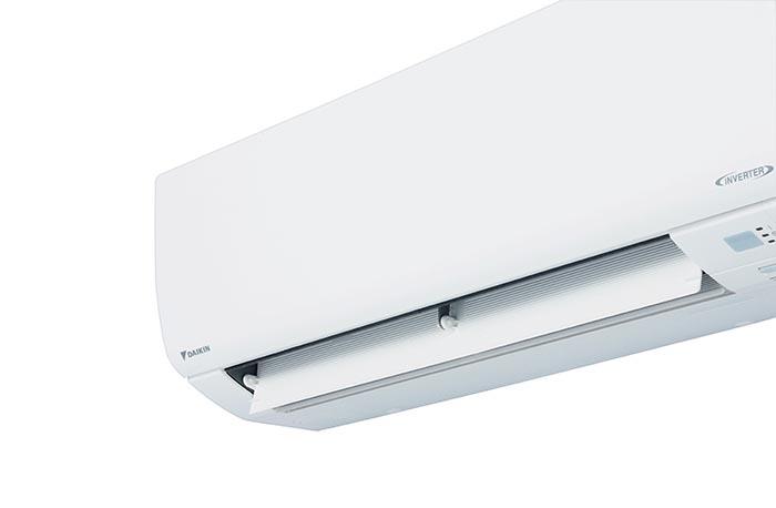 A wall mounted Daikin air conditioner.