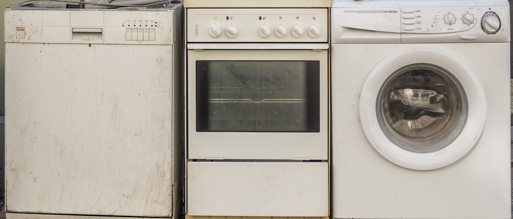 Old appliances that use too much energy and need to be replaced.