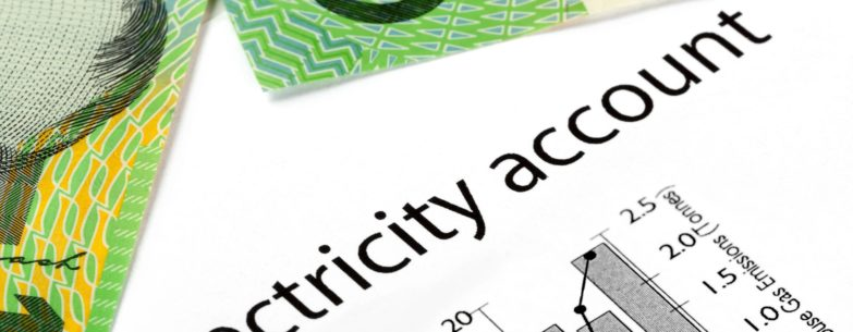 Electricity account statement with money.