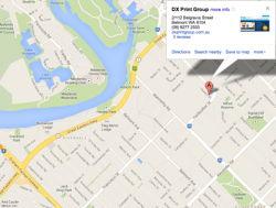 DX Print Group Google Maps Location - ACSIS Air Conditioning Perth
