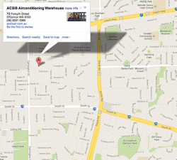 ACSIS Air Conditioning Warehouse Google Maps Location