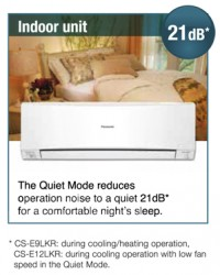 Panasonic Air Conditioning Systems Perth - Quiet Mode Feature